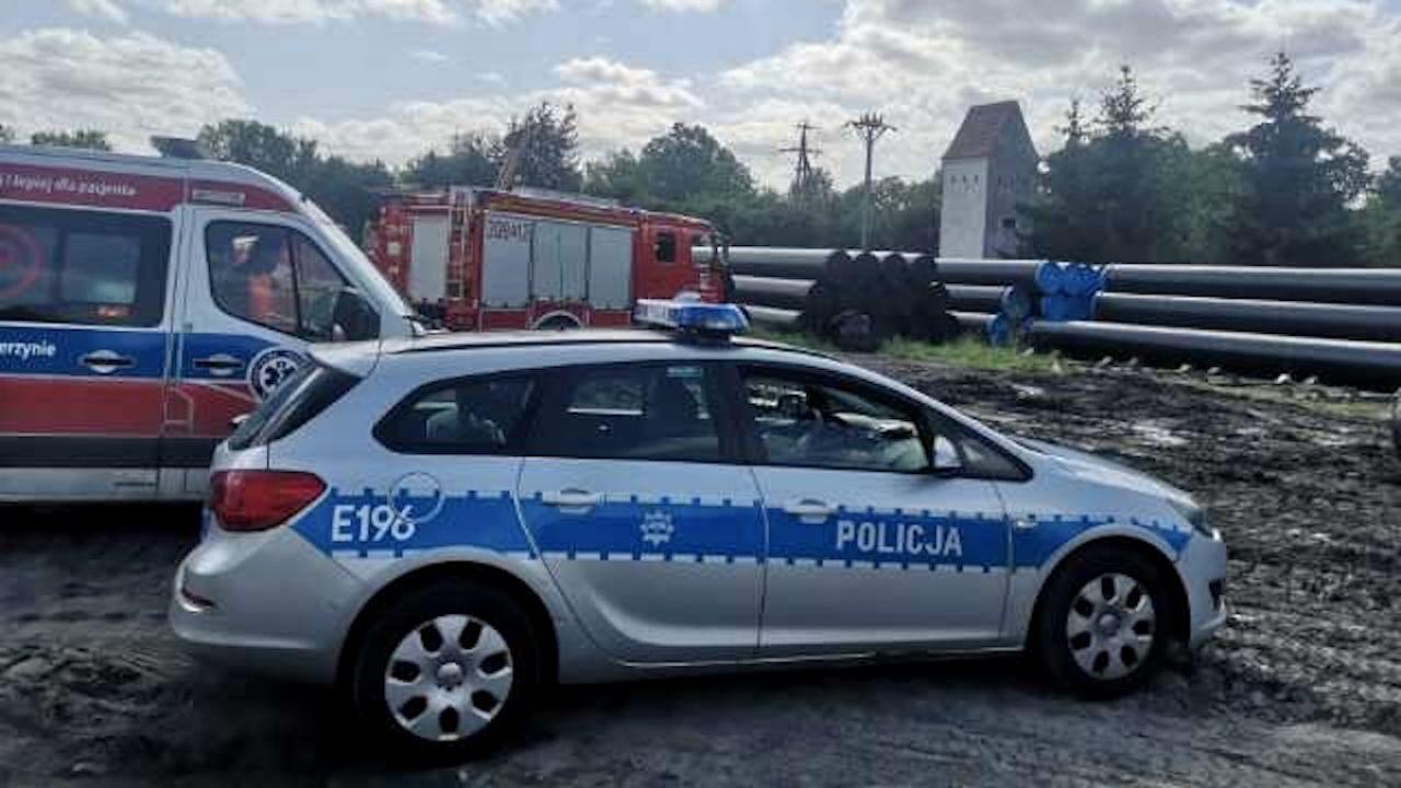 Na miejscu działały służby ratunkowe (fot. KM PSP Gorzów Wlkp.)