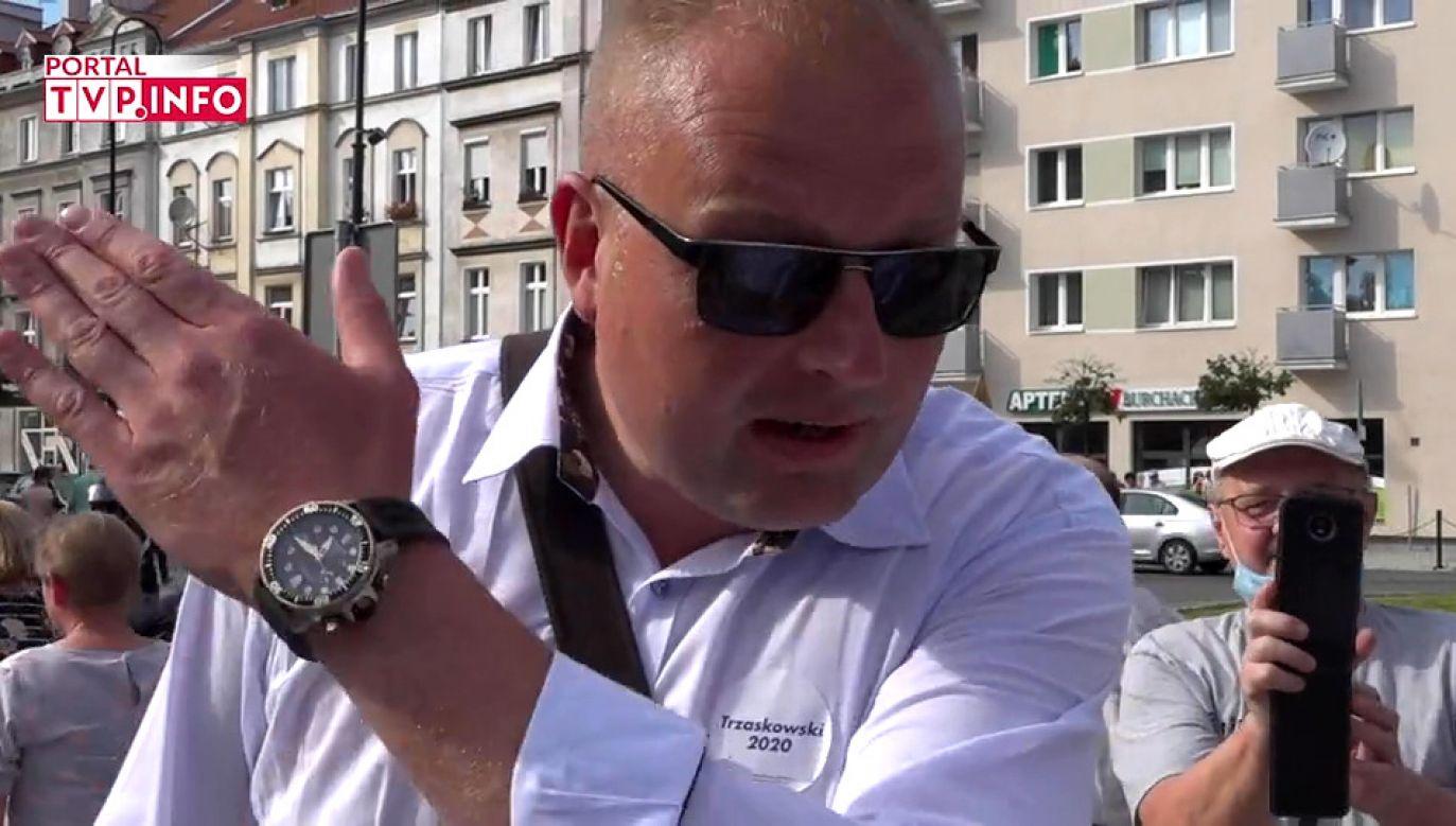 """Witold Zembaczyński mówił o """"pakowaniu wrotek"""" (fot. portal tvp.info)"""