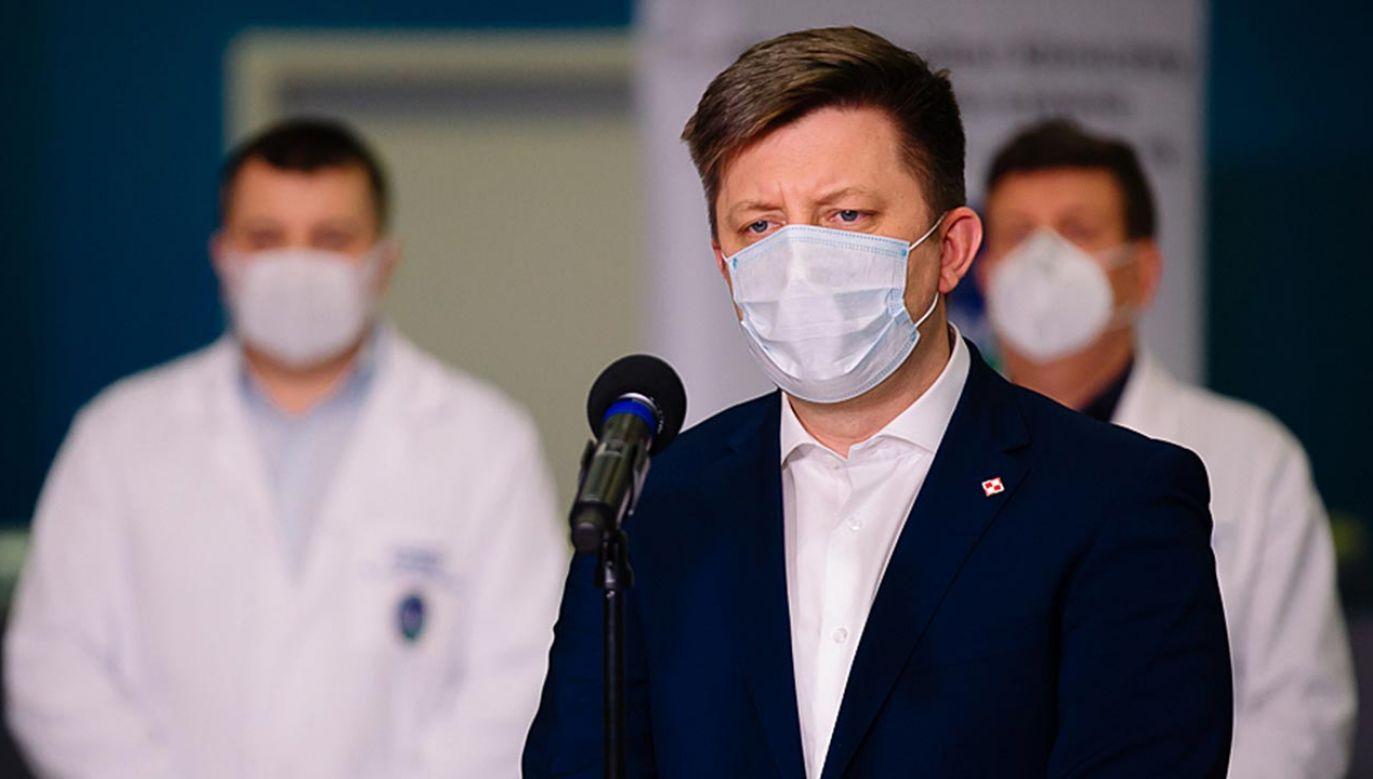 Michał Dworczyk zapowiedział zmiany w obostrzeniach (fot. Krystian Maj/KPRM)
