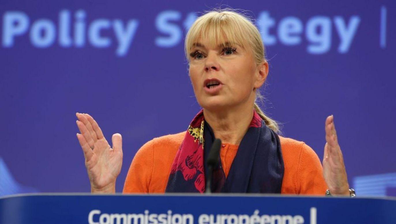 Elżbieta Bieńkowska ostro o sporze ws. LGBT (fot. Dursun Aydemir/Anadolu Agency/Getty Images)