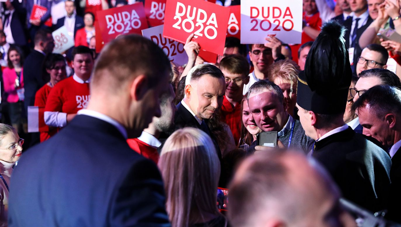 Planowane są kolejne konwencje wyborcze Andrzeja Dudy (fot. PAP/Rafał Guz)