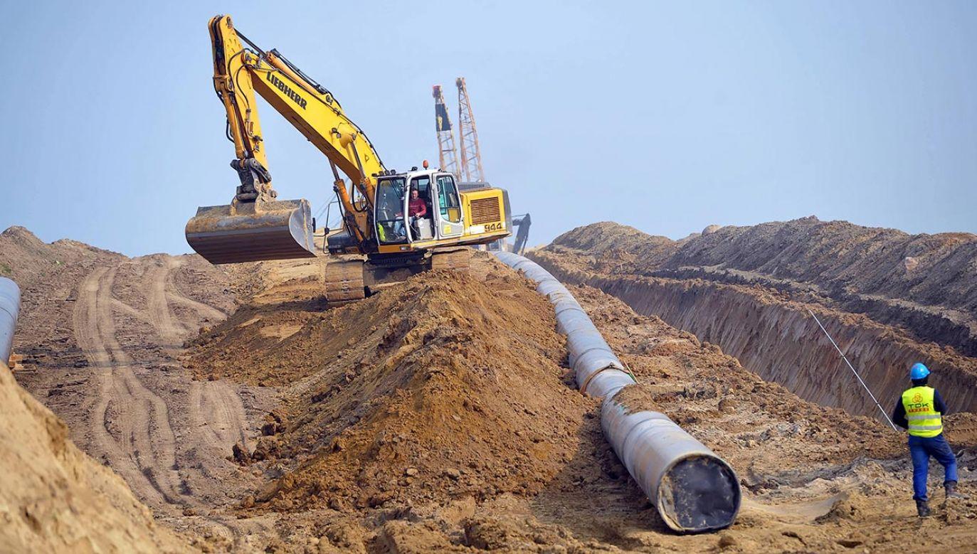 Rurociągiem Baltic Pipe gaz ma popłynąć z Norwegii przez Danię do Polski (fot. PAP/Marcin Bielecki)
