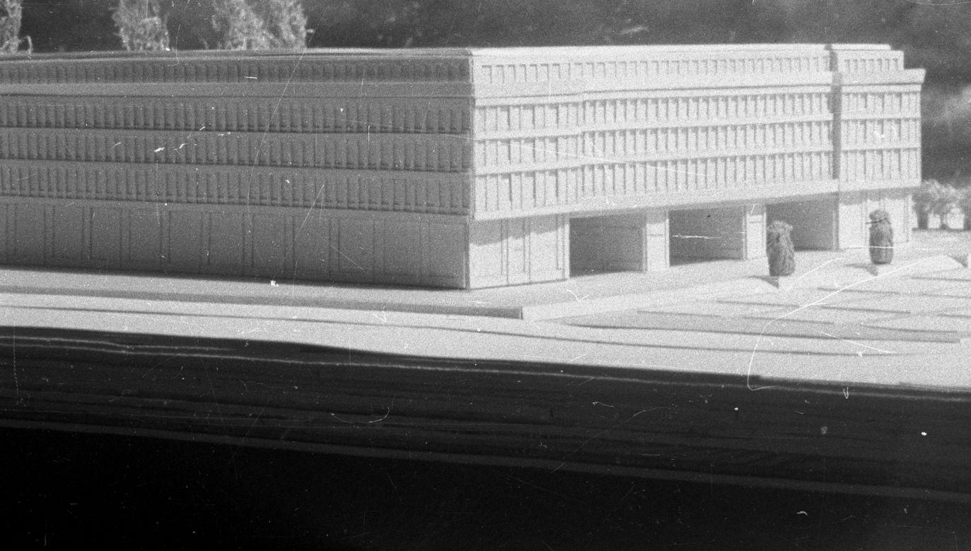 Makieta budynku Komitetu Centralnego Polskiej Partii Robotniczej z roku 1947. Fot. PAP