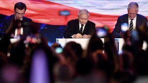 Planowane jest wspólne oświadczenie liderów: PiS, Solidarnej Polski i Porozumienia (fot. arch.PAP/Bartłomiej Zborowski)