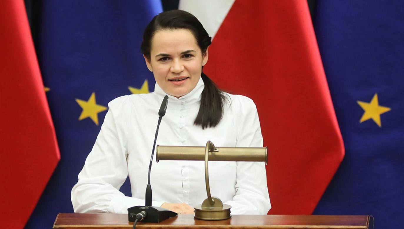 Swiatłana Cichanouska gościła ostatnio w Polsce (fot. PAP/Leszek Szymański)