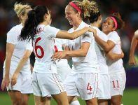 Kanadyjki pokonały Brytyjki w ćwierćfinale piłkarskiego turnieju kobiet io znalazły się w strefie medalowej (fot. Getty Images)