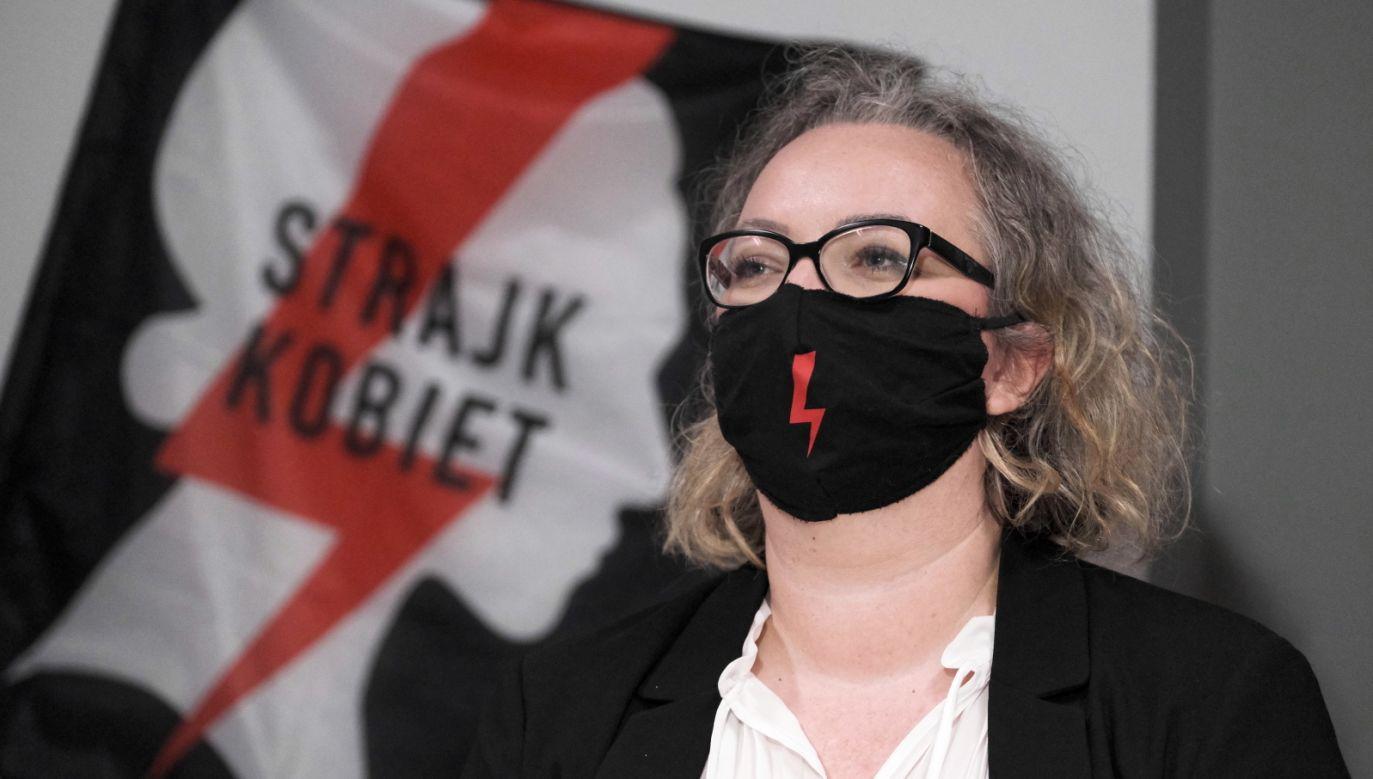 Liderka Ogólnopolskiego Strajku Kobiet Marta Lempart (fot. PAP/Mateusz Marek)