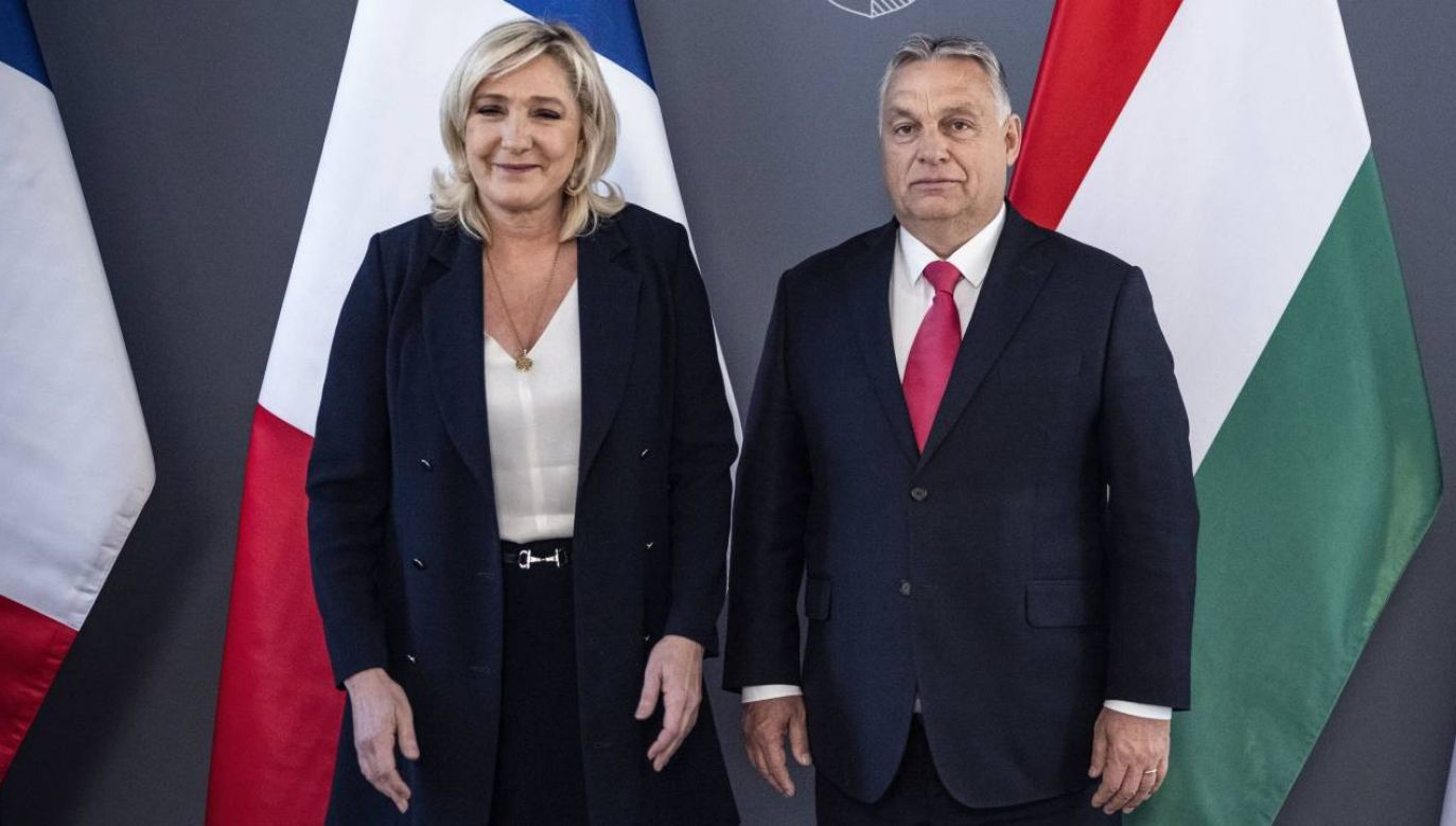Marine Le Pen i Viktor Orban spotkali się z Budapeszcie (fot. PAP/EPA/ZOLTAN FISCHER/HUNGARIAN PRIME MINISTER'S OFFICE HANDOUT)