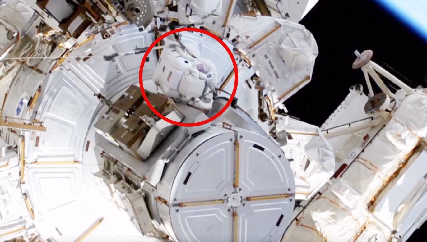 Astronauci wyszli poza ISS (fot. NASA)