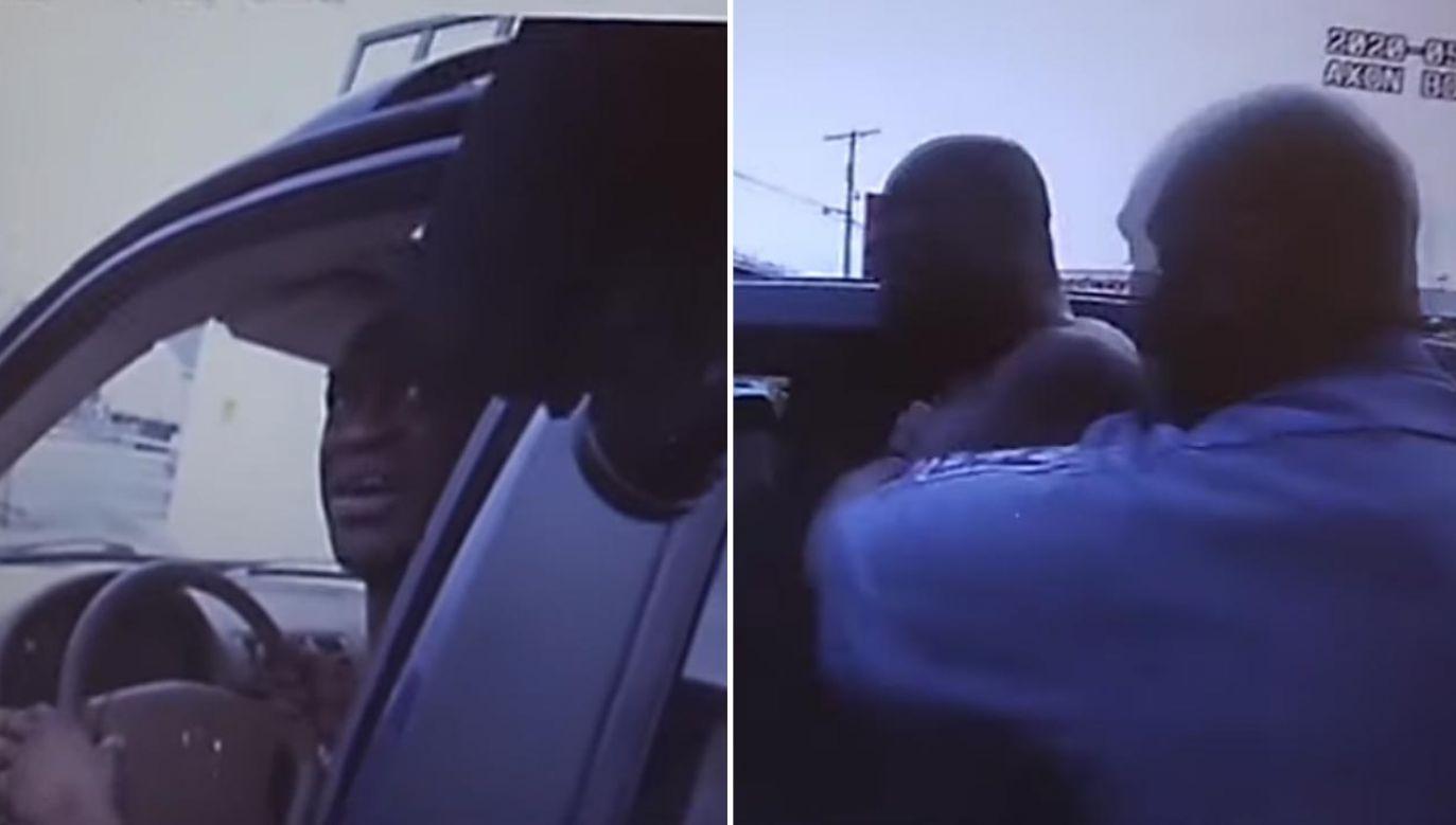 Nagrania pochodzą z kamer na mundurach dwóch funkcjonariuszy policji w Minneapolis (fot. YouTube/Daily Mail)