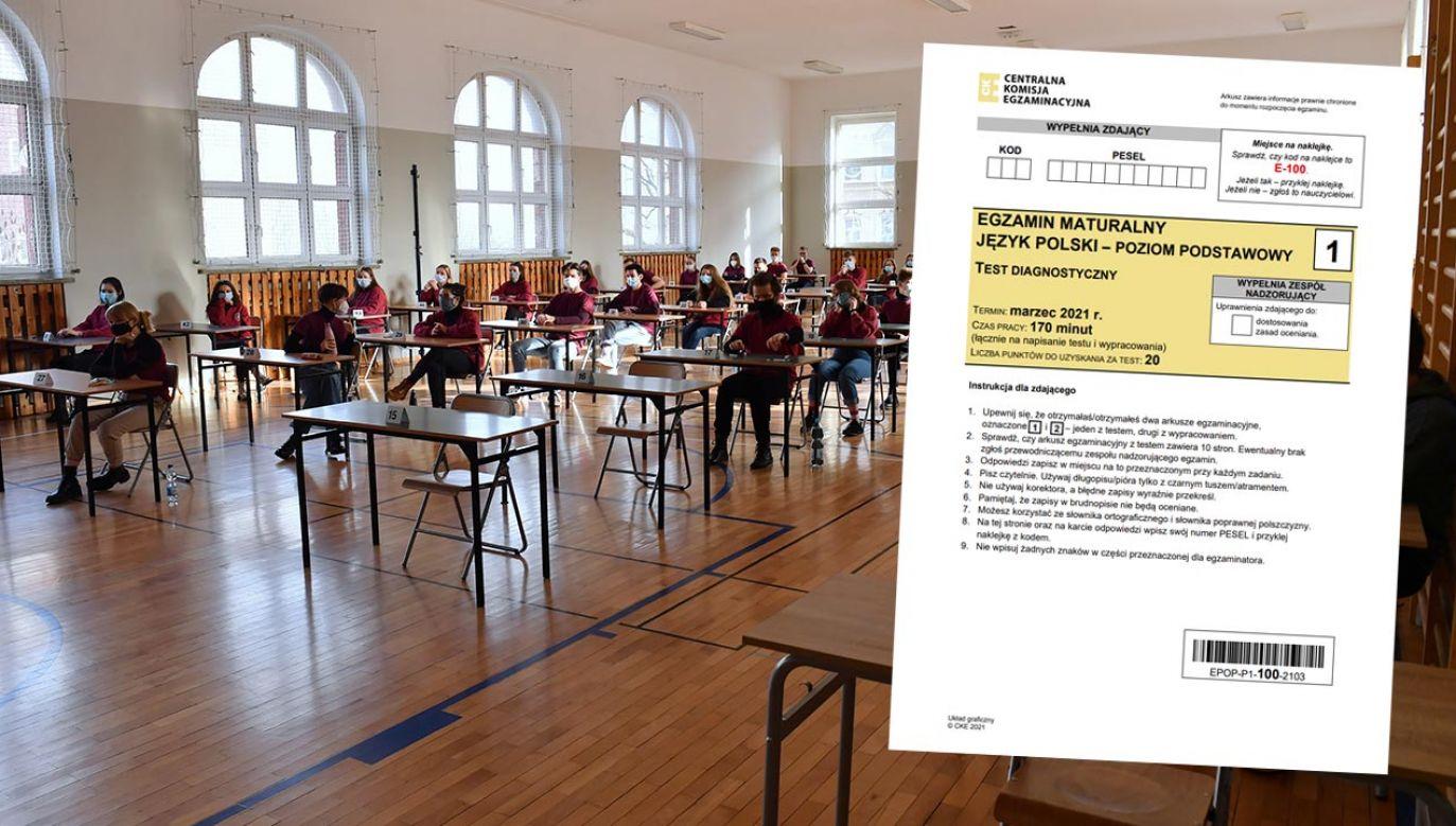 Matura próbna 2021 – jakie były pytania? (fot.  PAP/Marcin Bielecki)
