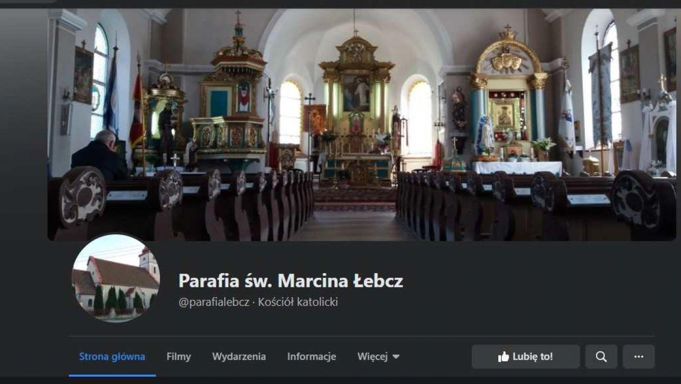 Print screen fanpage'u parafii św. Marcina w Łebczu/Facebook
