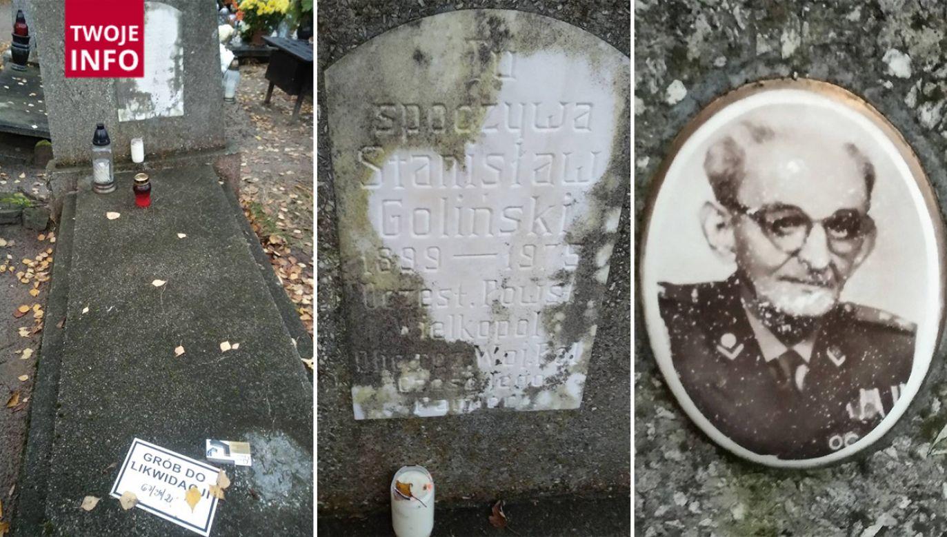 Czytelniczka poinformowała nas, że grób powstańca wielkopolskiego Stanisława Golińskiego w Gdyni został przeznaczony do likwidacji (fot. Twoje Info)