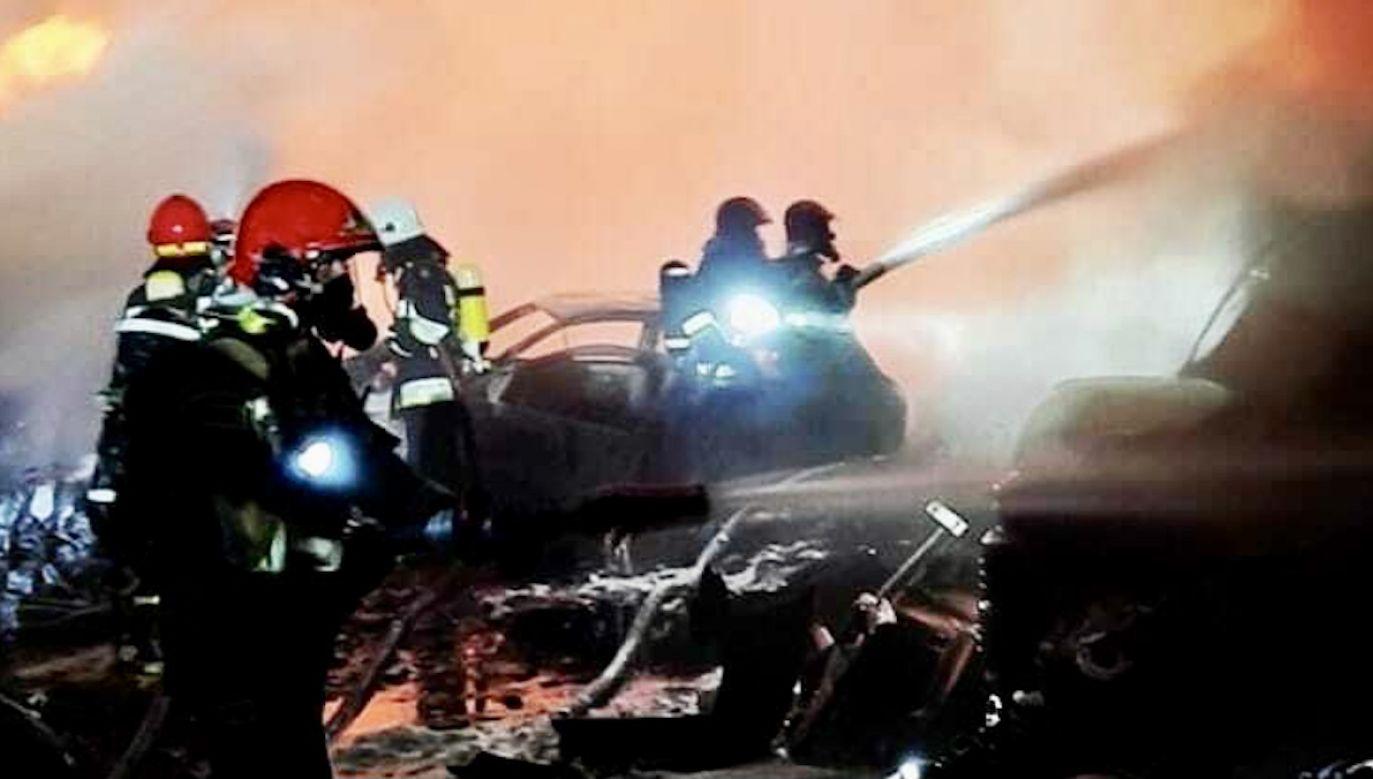 W pożarze nikt nie został ranny (fot. KM PSP Gorzów Wlkp)