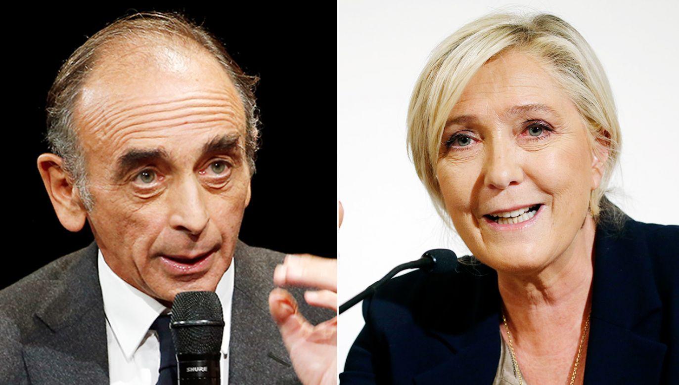 Eric Zemmour i Marine Le Pen (fot. Chesnot/Getty Images)