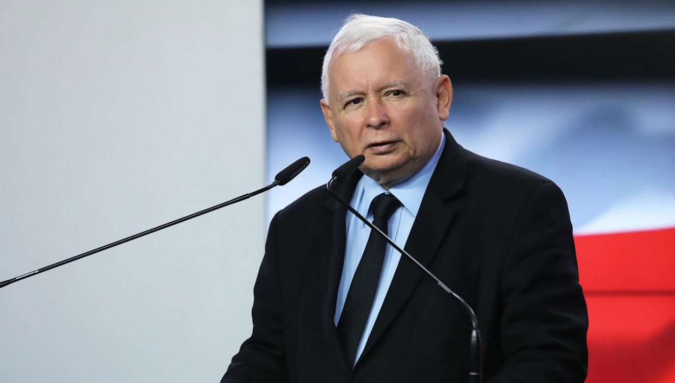 Kaczyński odnosił sięjuż do spekulacji, że może już nie być prezesem partii (fot. PAP/Tomasz Gzell)