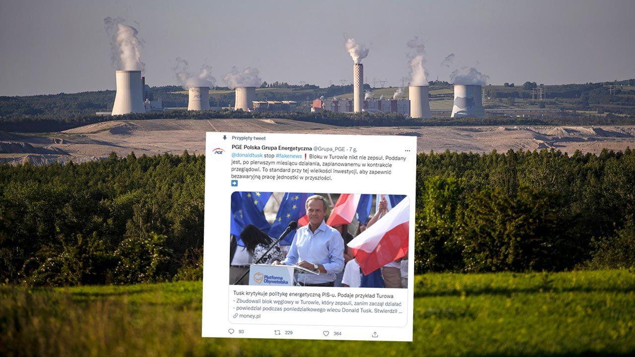 PGE pisze o  nieprawdziwych informacjach nt. Turowa (fot. PAP/EPA/MARTIN DIVISEK)