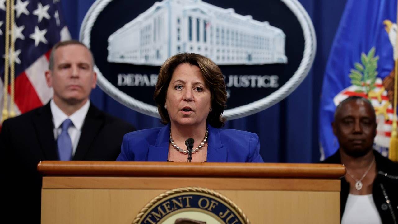 Zastępczyni prokuratora generalnego Lisa Monaco poinformowała o sukcesie operacji (fot. PAP/EPA/JONATHAN ERNST / POOL)