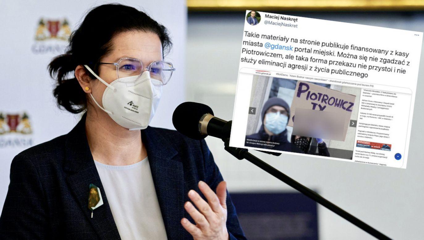 Pakt przeciwko mowie nienawiści nie dotyczy miejskiego portalu gdansk.pl? (fot. tt/@MaciejNaskret, PAP/Marcin Gadomski)