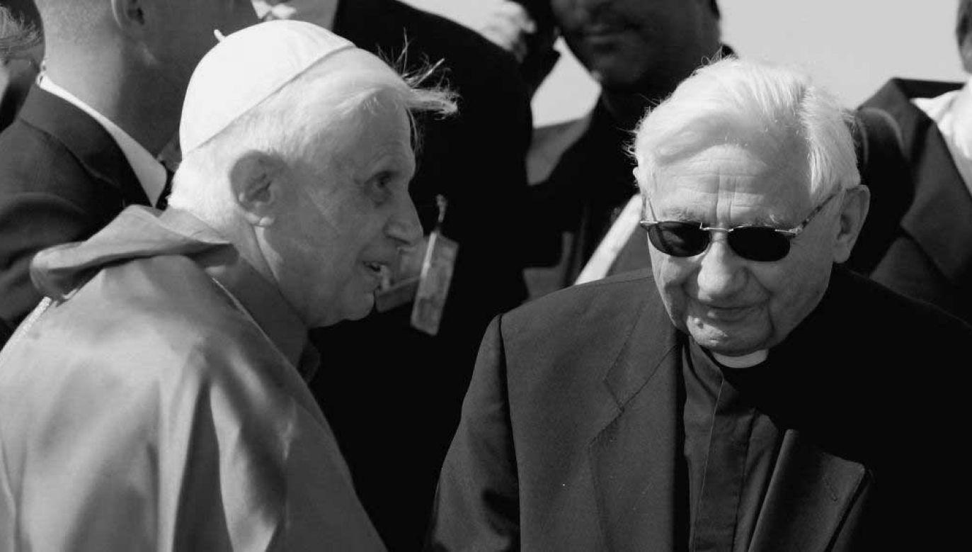 Georg Ratzinger (z prawej) miał 96 lat (fot. Ralph Orlowski/Getty Images)