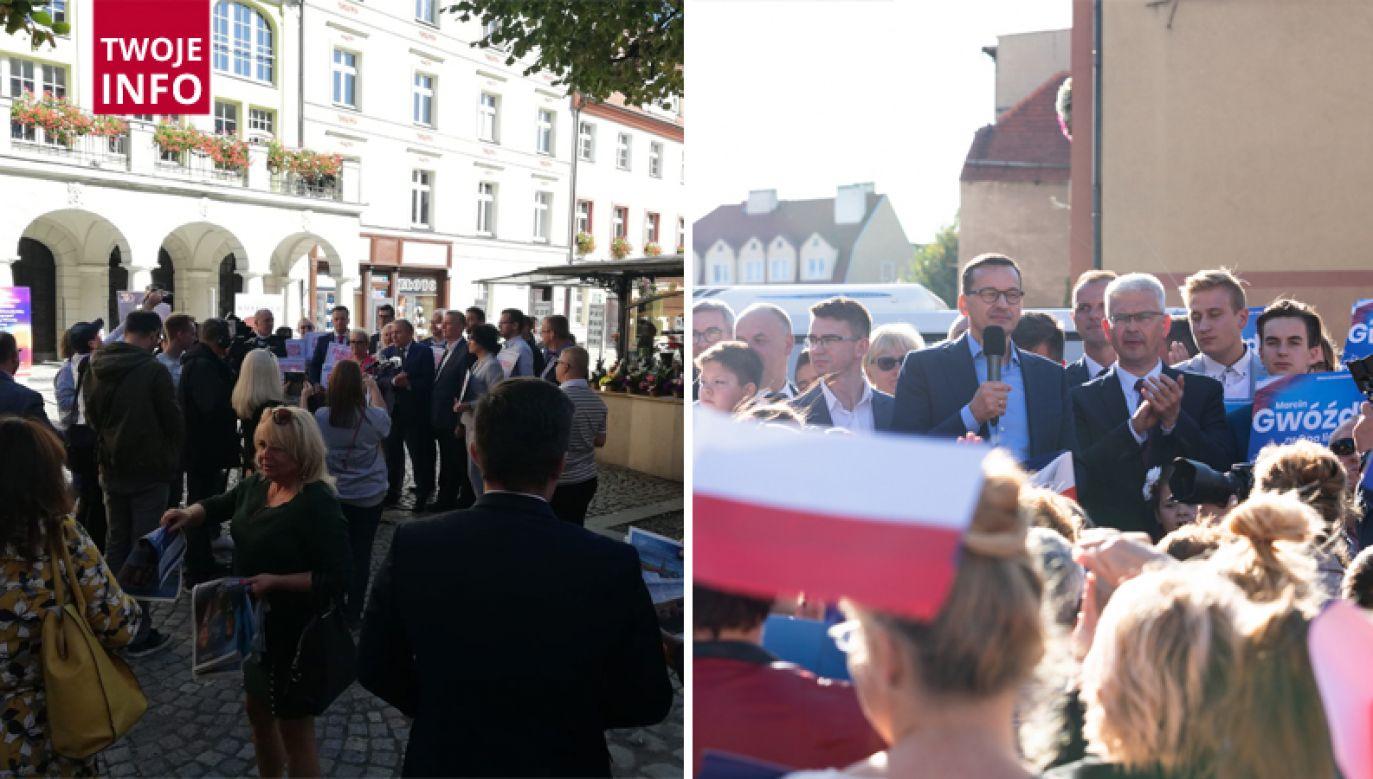 W niedzielę swoje spotkania z mieszkańcami mieli Grzegorz Schetyna i Mateusz Morawiecki (fot. Twoje Info/ Mariusz Chłopik)