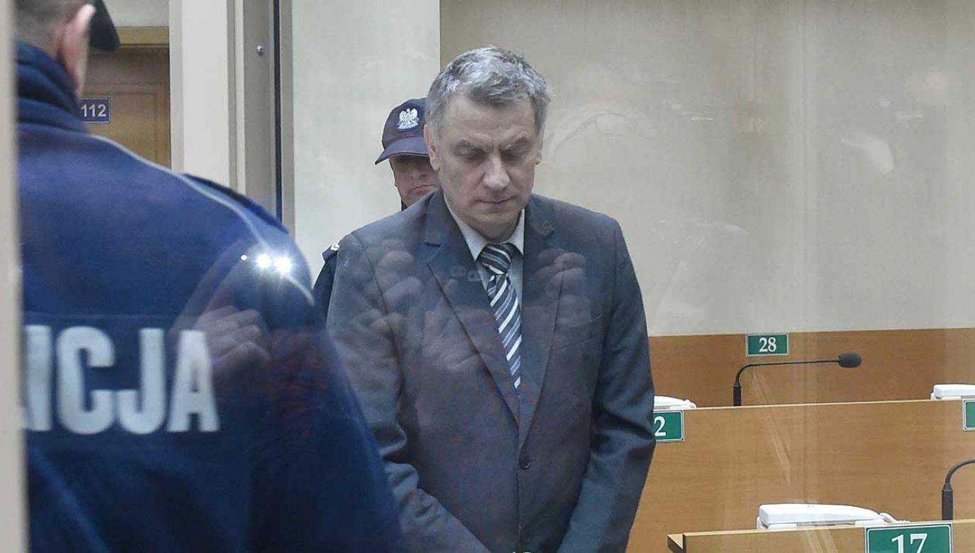Brunon Kwiecień na sali rozpraw (fot. PAP/Jacek Bednarczyk)