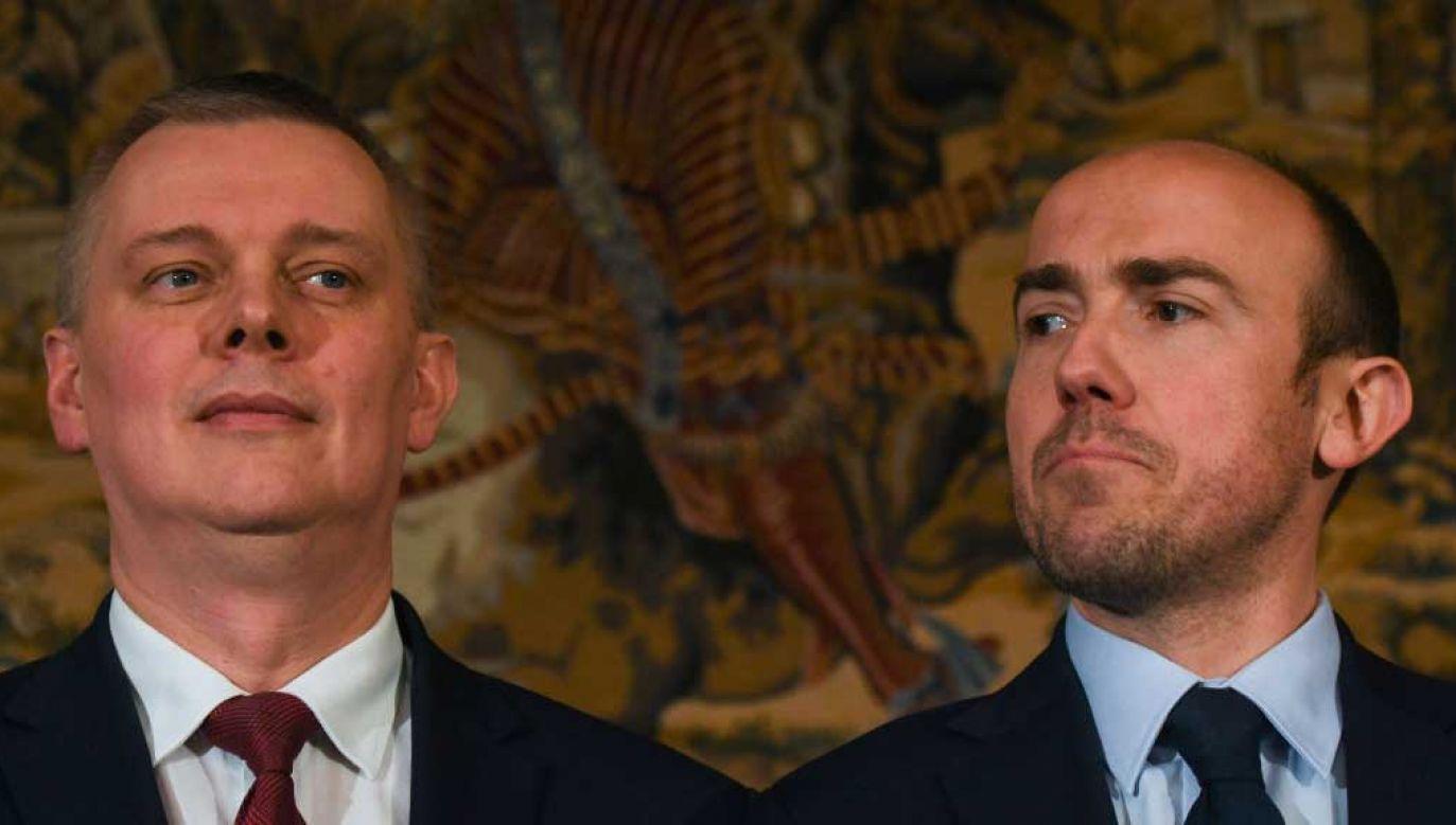 Tomasz Siemoniak i Borys Budka (fot. Artur Widak/NurPhoto via Getty Images)