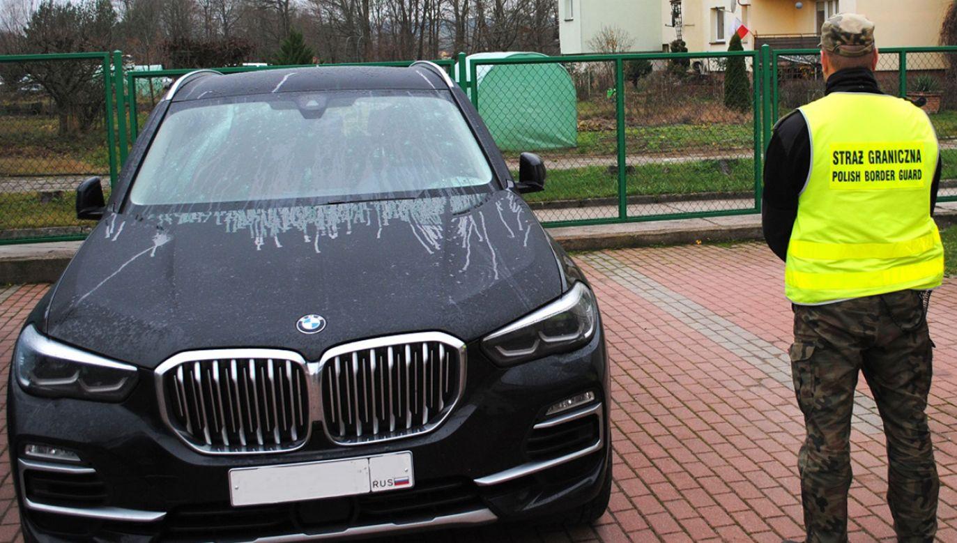 To jeden z najdroższych pojazdów zatrzymanych w tym roku (fot. podlaski.strazgraniczna.pl)