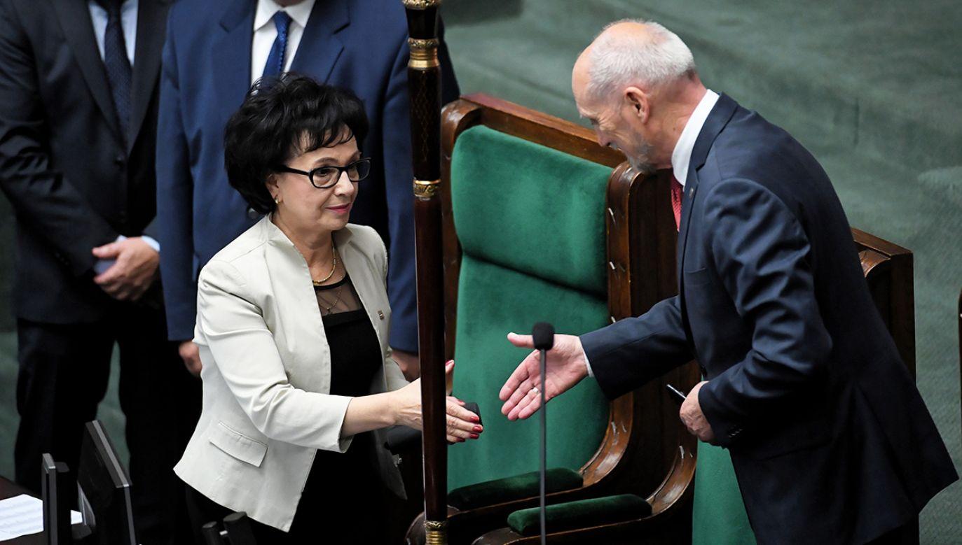 Elżbieta Witek była jedynym kandydatem na stanowisko marszałka Sejmu (fot. PAP/Radek Pietruszka)
