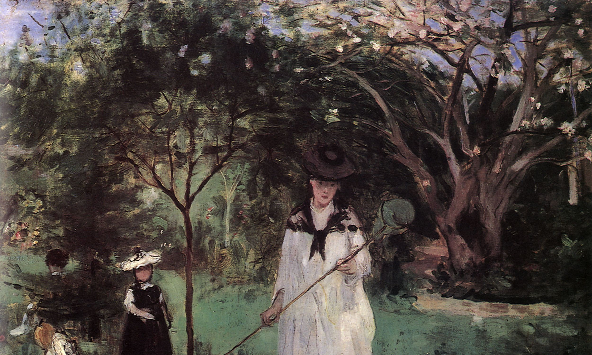 """Polowanie na motyle, Edma Pontillon ze swymi córkami Jeanne i Blanche"" (1874 r.). Fot. Picturenow/Universal Images Group via Getty Images"