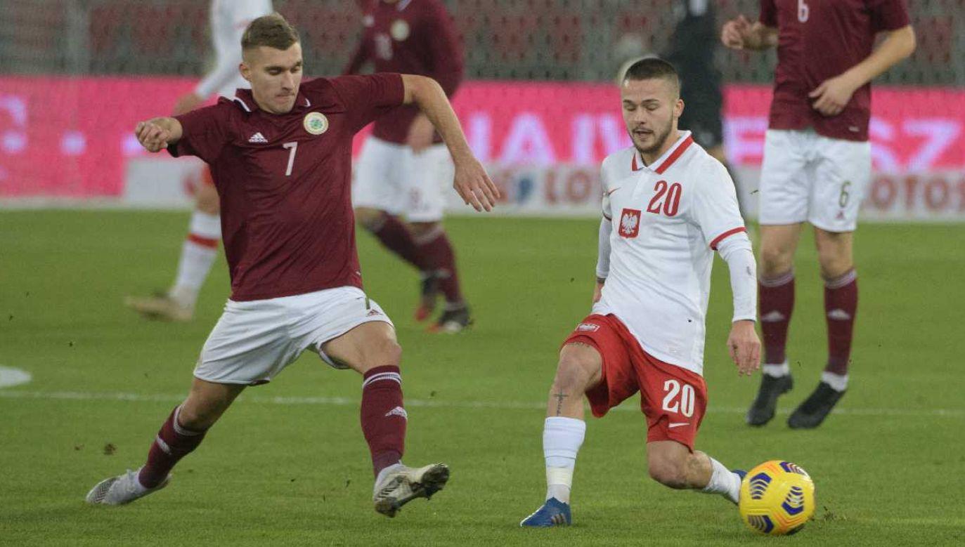 Reprezentacja U21 pokonała Łotwę 3:1 (fot. PAP/Grzegorz Michałowski)