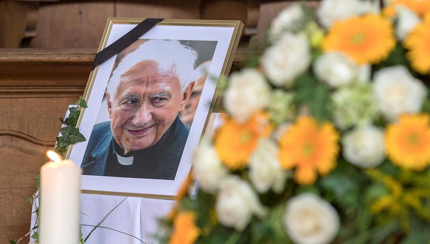 Starszy brat papieża seniora miał 96 lat (fot. PAP/EPA/UWE MOOSBURGER/BISTUM REGENSBURG / POOL)