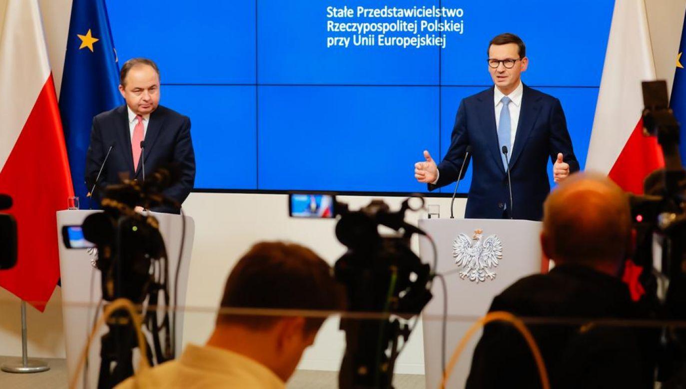Konferencja premiera Mateusza Morawieckiego (fot. tt/@PremierRP)