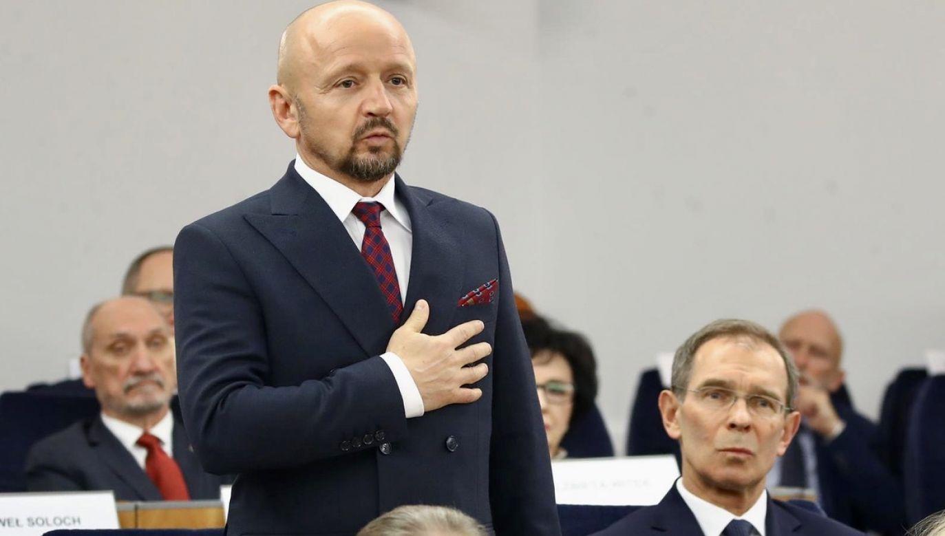 Jacek Bury krytykuje swoje ugrupowanie (fot. M.Józefaciuk/Kancelaria Senatu)