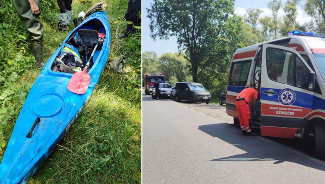 46–latek znajdował się w jednym z trzech kajaków, które się zderzyły (fot. Facebook/OSP Radocza)
