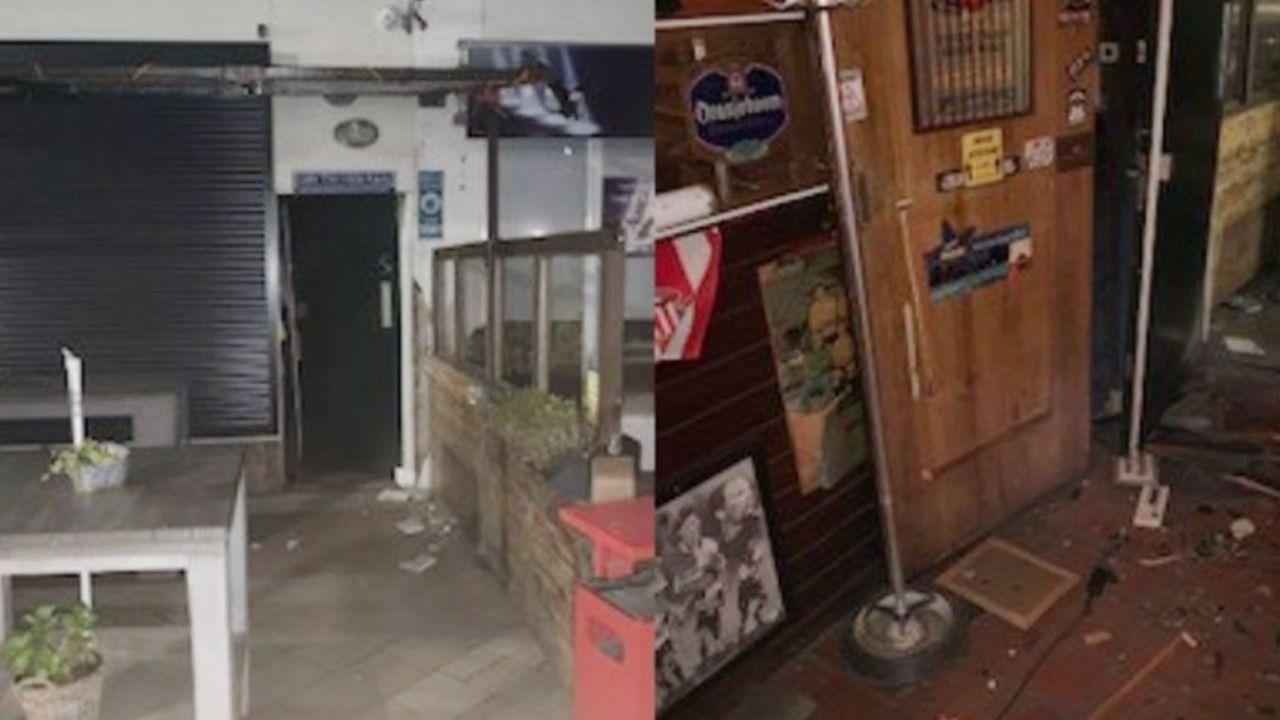 Ładunek wybuchowy eksplodował w popularnym wśród kibiców Ajaksu pubie (fot. TT/Politie Rotterdam eo)