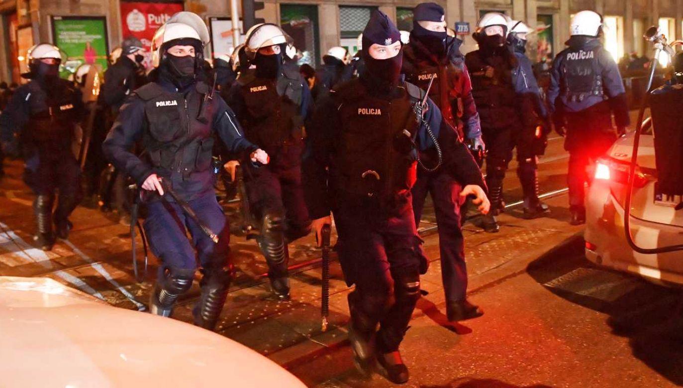 Policja stała się celem politycznych ataków (fot. PAP/Radek Pietruszka)