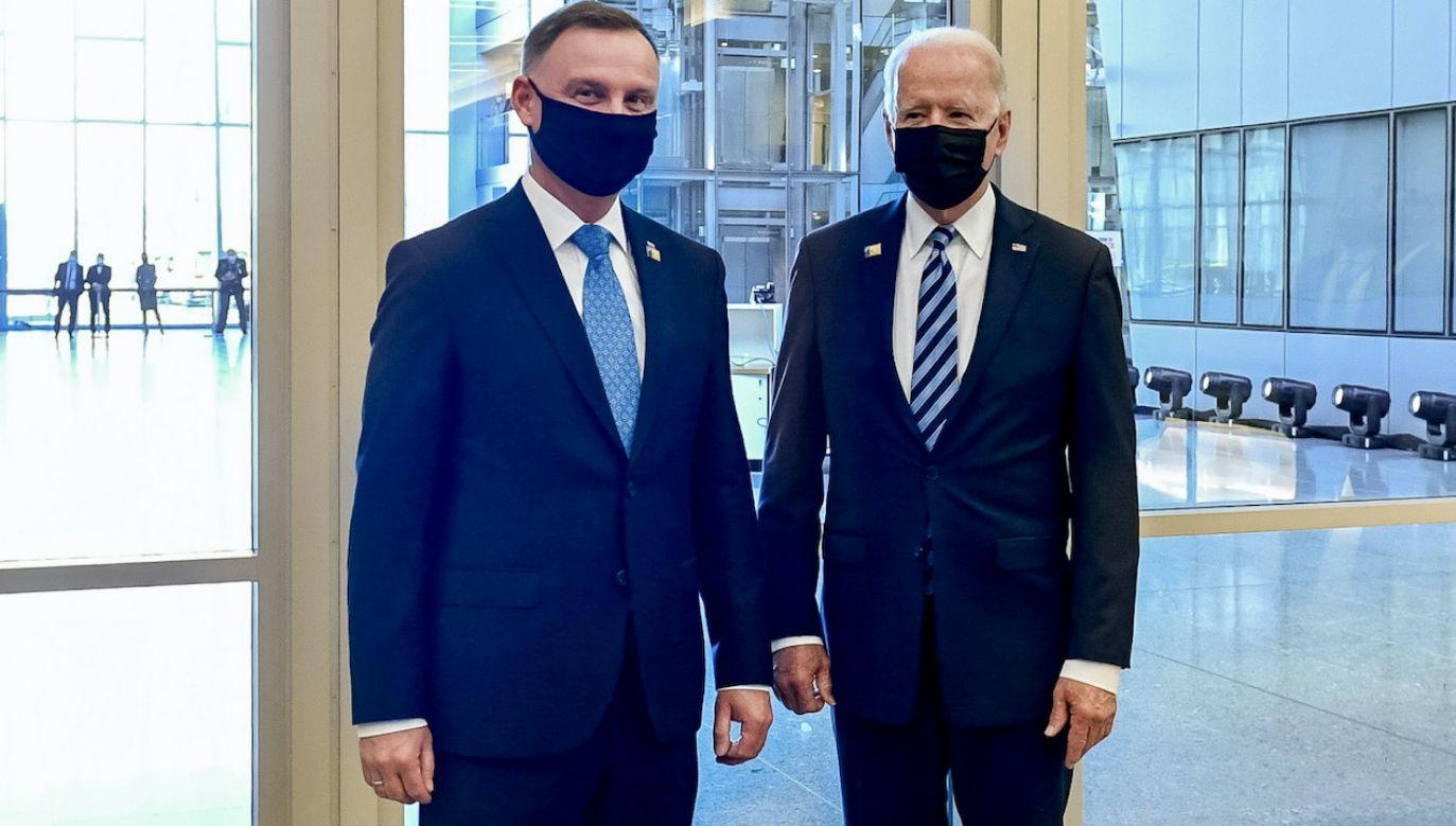 Andrzej Duda i Joe Biden podczas szczytu NATO (fot. PAP/MON/Wojciech Król)