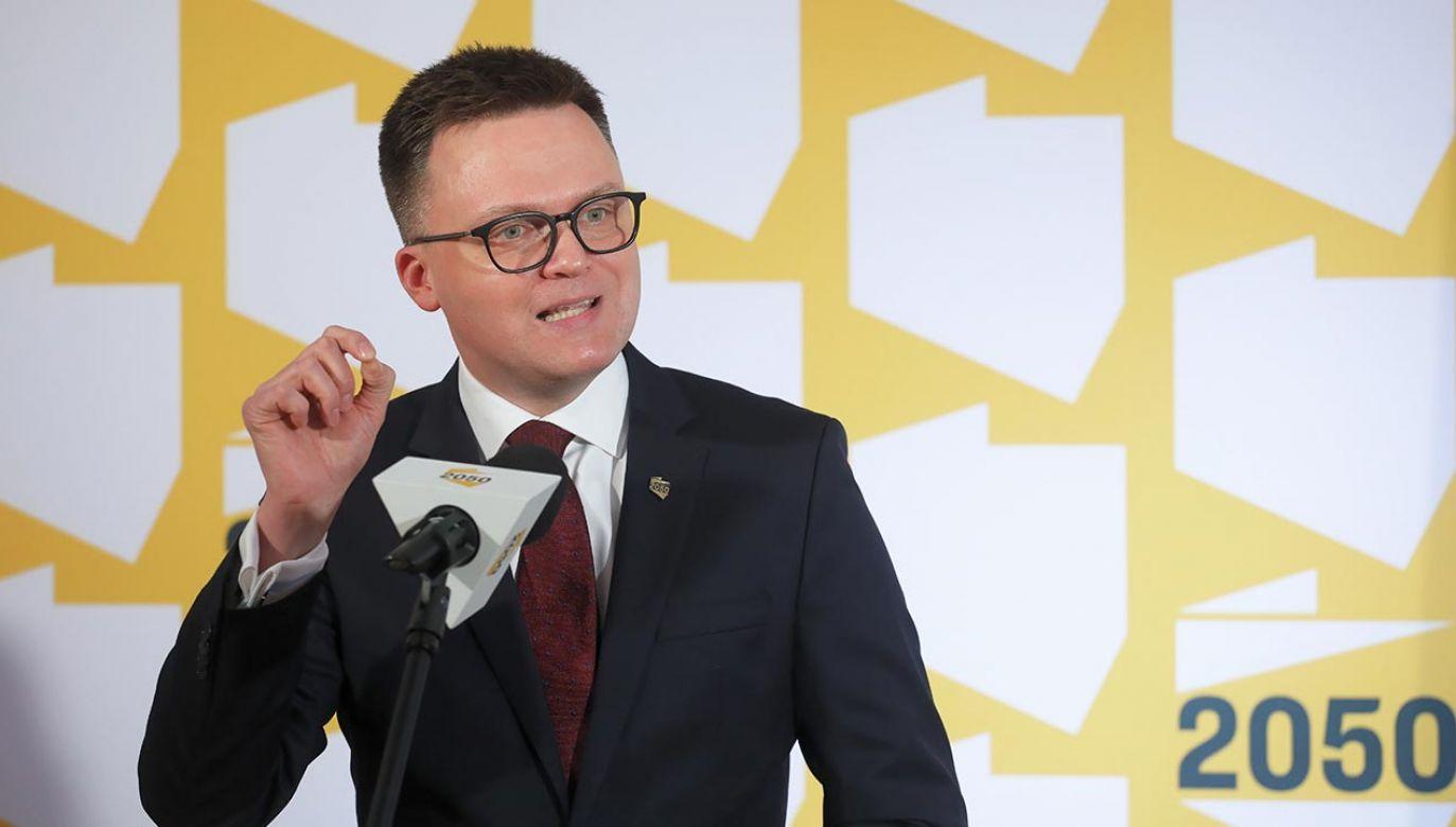 Hołownia nowym liderem opozycji? (fot. PAP/Paweł Supernak)