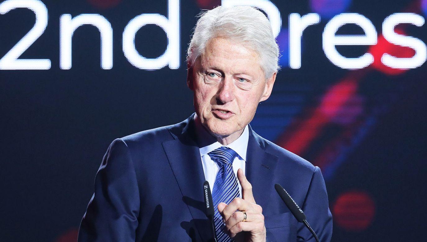 Bill Clinton wystąpił podczas kongresu ABSL Summit w Warszawie (fot. PAP/Paweł Supernak)
