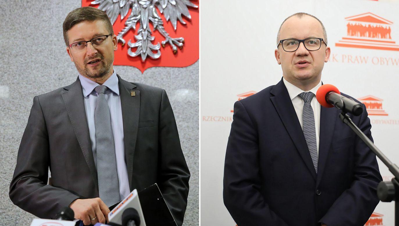 Sędzia Paweł Juszczyszyn, RPO Adam Bodnar  (fot. arch.PAP/Tomasz Waszczuk, Leszek Szymański)