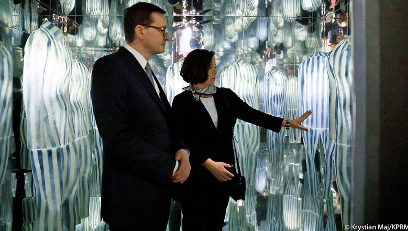 Premier Mateusz Morawiecki złożył hołd ofiarom Holokaustu (fot. KPRM/Krystian Maj)