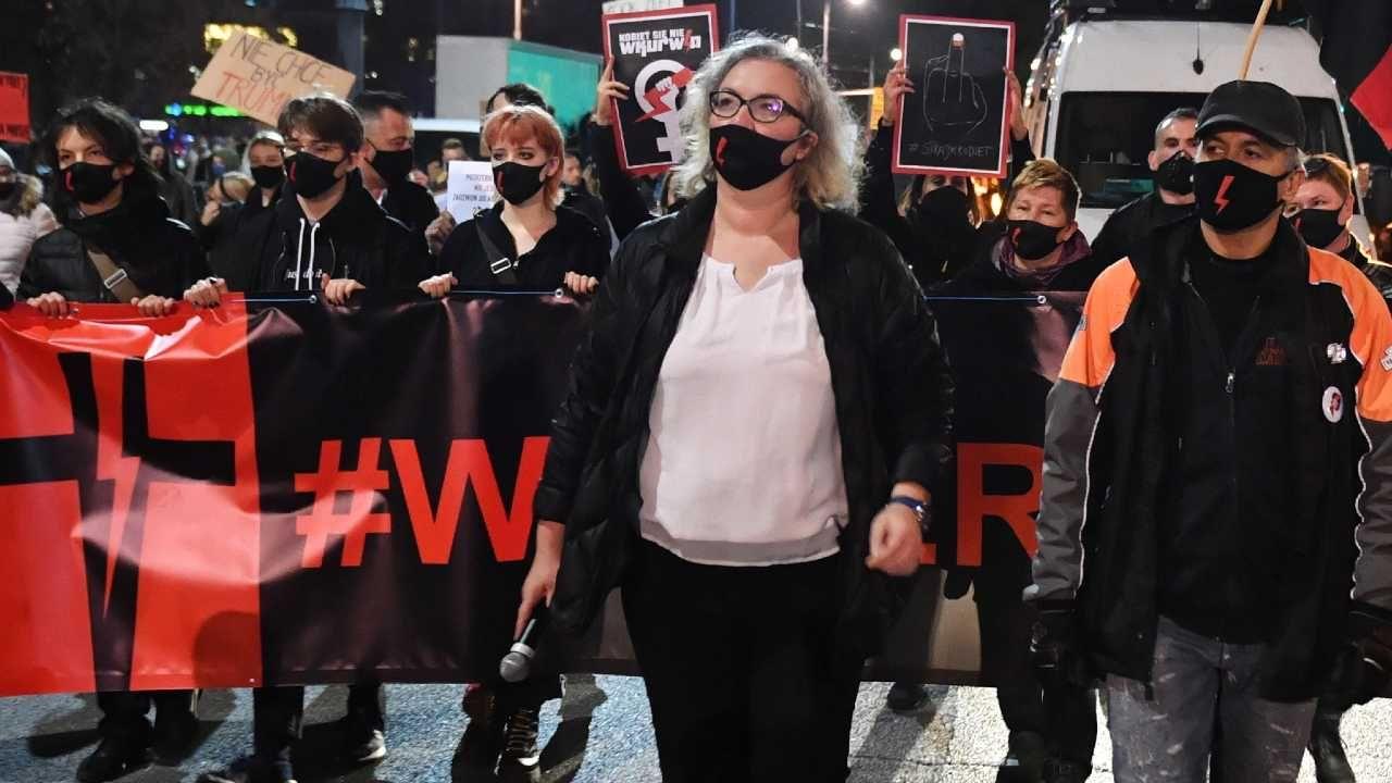 Marta Lempart jest jedną z liderem organizacji Strajk Kobiet (fot. PAP/Radek Pietruszka)