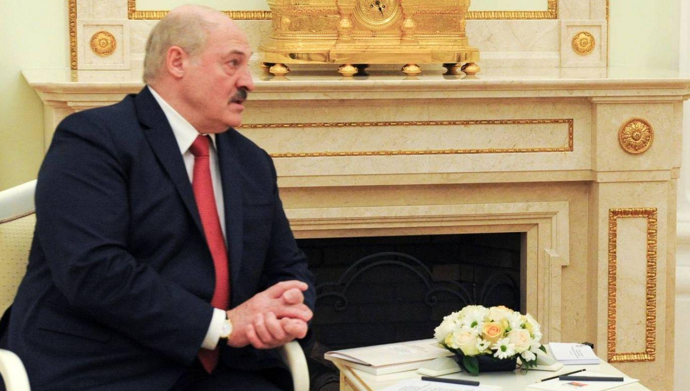 Prezydent Białorusi Alaksandr Łukaszenka (fot. PAP/EPA/MIKHAIL KLIMENTYEV / KREMLIN / SPUTNIK POOL)
