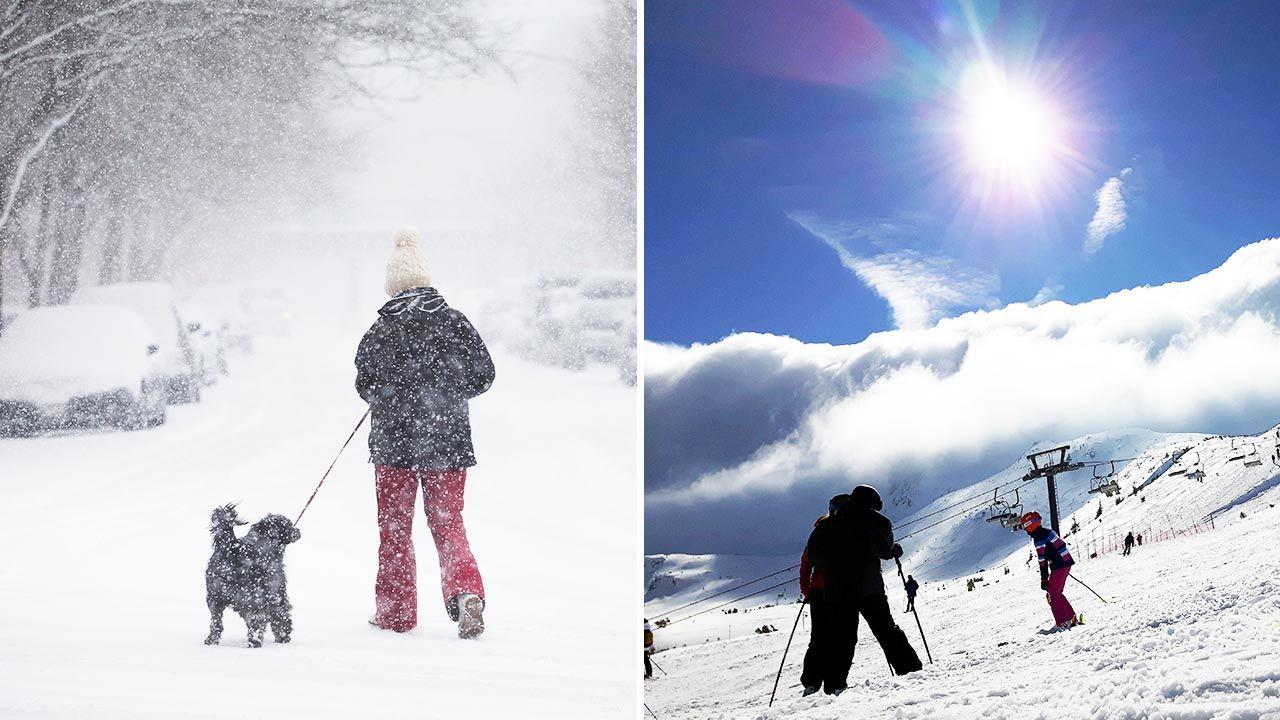 Różnica temperatur i anomalie pogodowe to efekt ocieplenia klimatu? (fot.  Scott Olson/Getty Images; PAP/Tomasz Gzell)