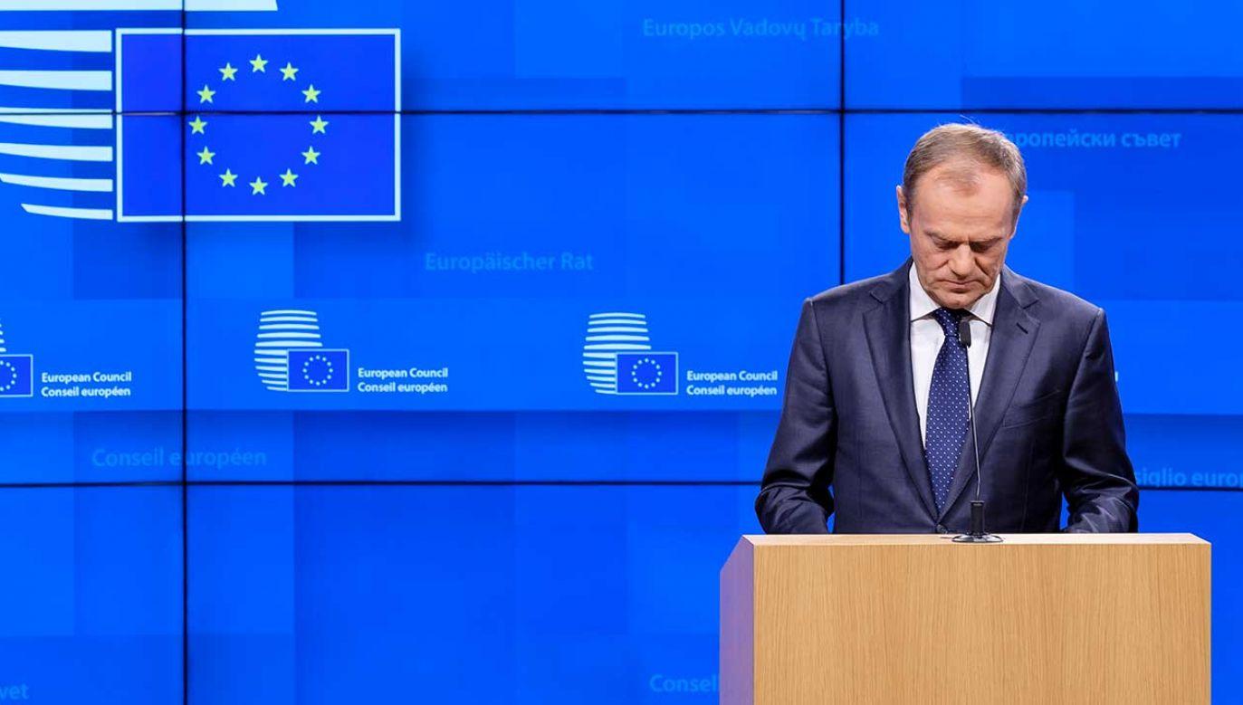 Donald Tusk zeznawał przed komisją ds. VAT w poniedziałek (fot. Thierry Monasse/Getty Images)