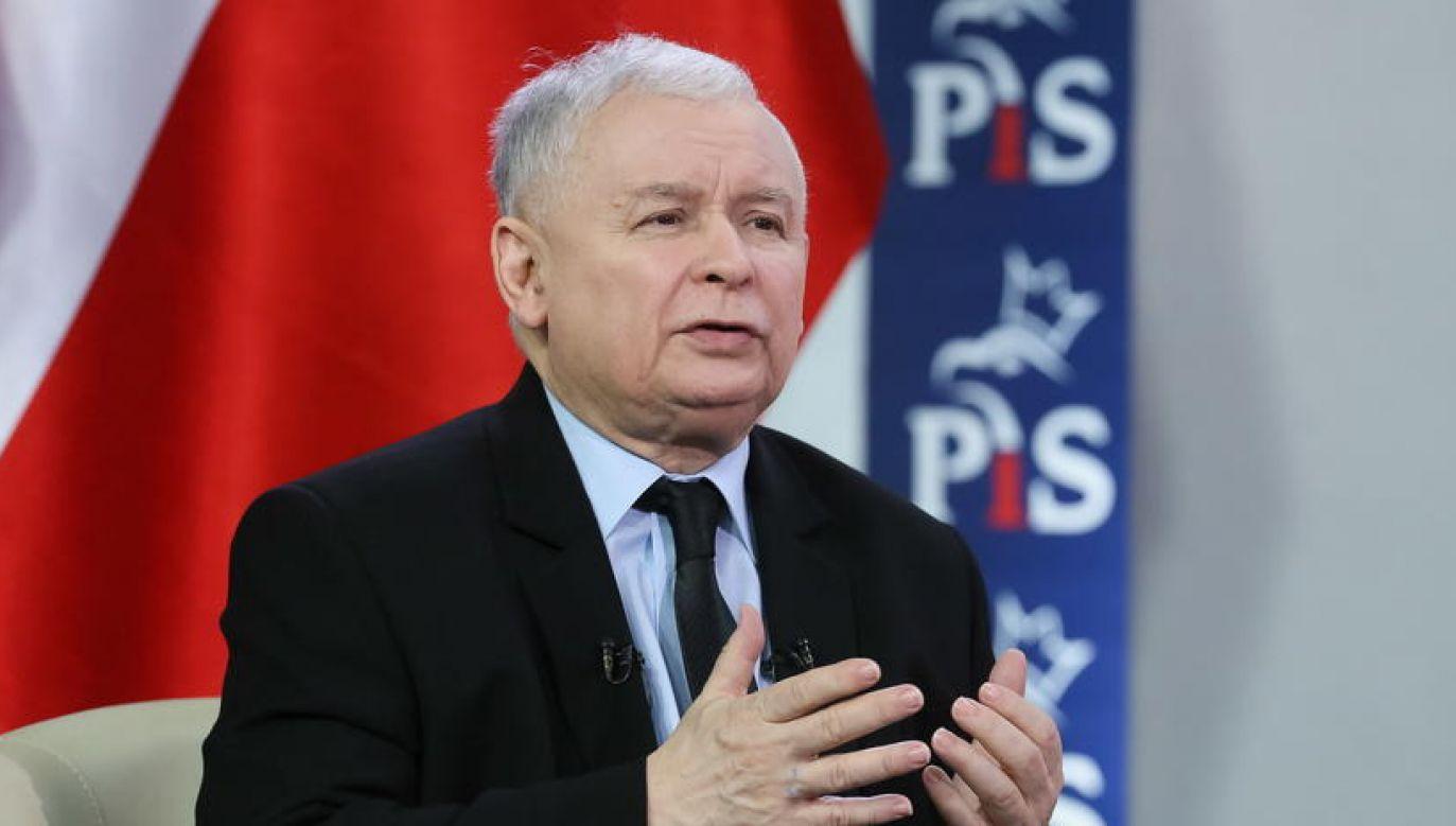 Prezes Prawa i Sprawiedliwości Jarosław Kaczyński (fot. Paweł Supernak/PAP)
