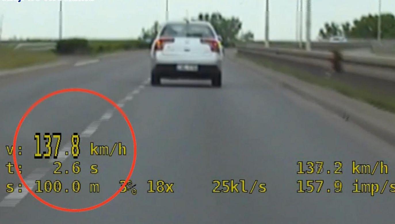 Miesiąc temu w tym miejscu zginął inny kierowca (fot. Policja)