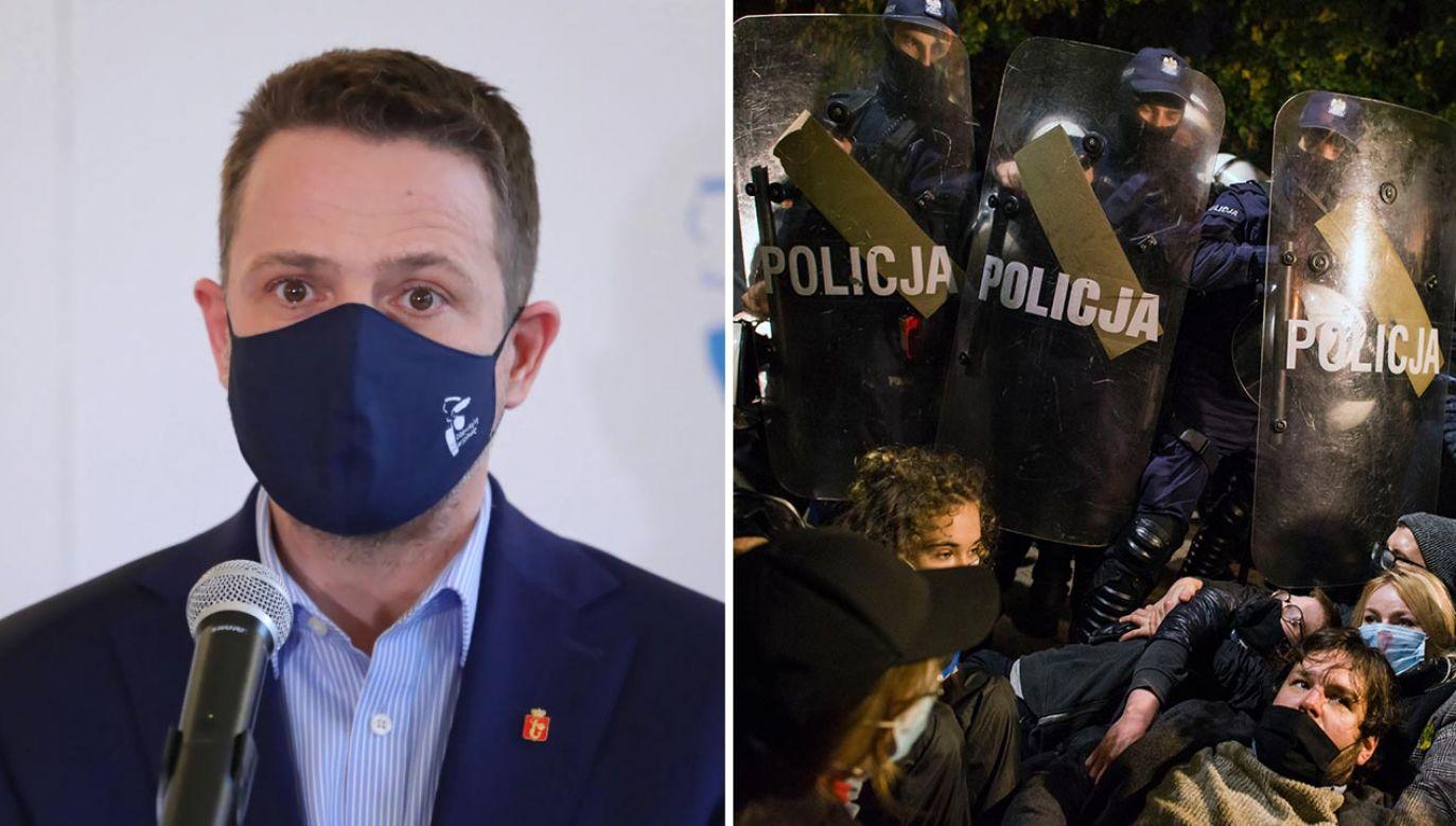 Na słowa Trzaskowskiego reaguje też KSP (fot. PAP/Tomasz Gzell; Attila Husejnow/SOPA Images/LightRocket via Getty Images))