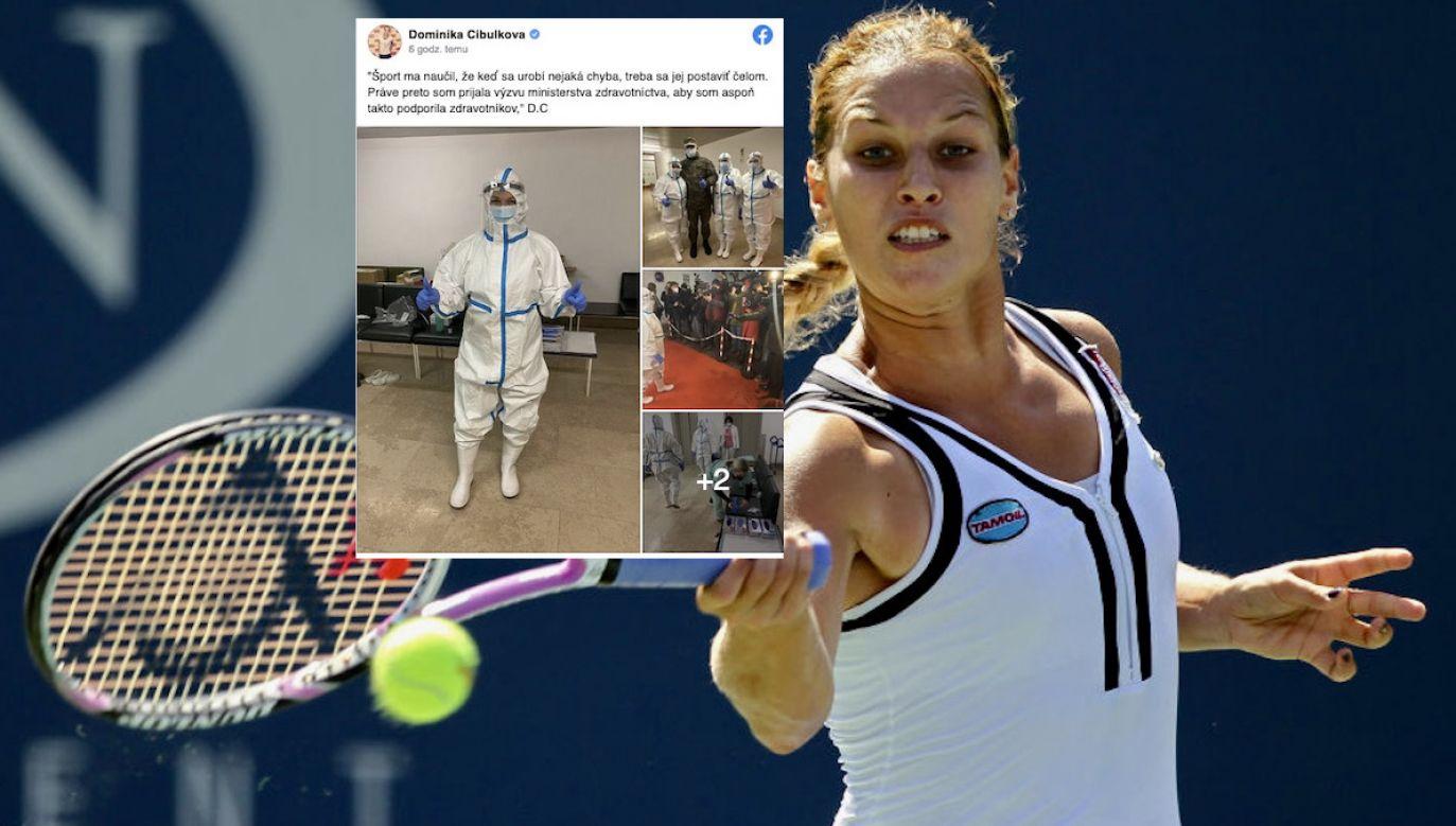 Cibulkova propozycję wolontariatu otrzymała od ministerstwa zdrowia (fot. A.Bello/Getty Images, FB/Dominika Cibulkova)